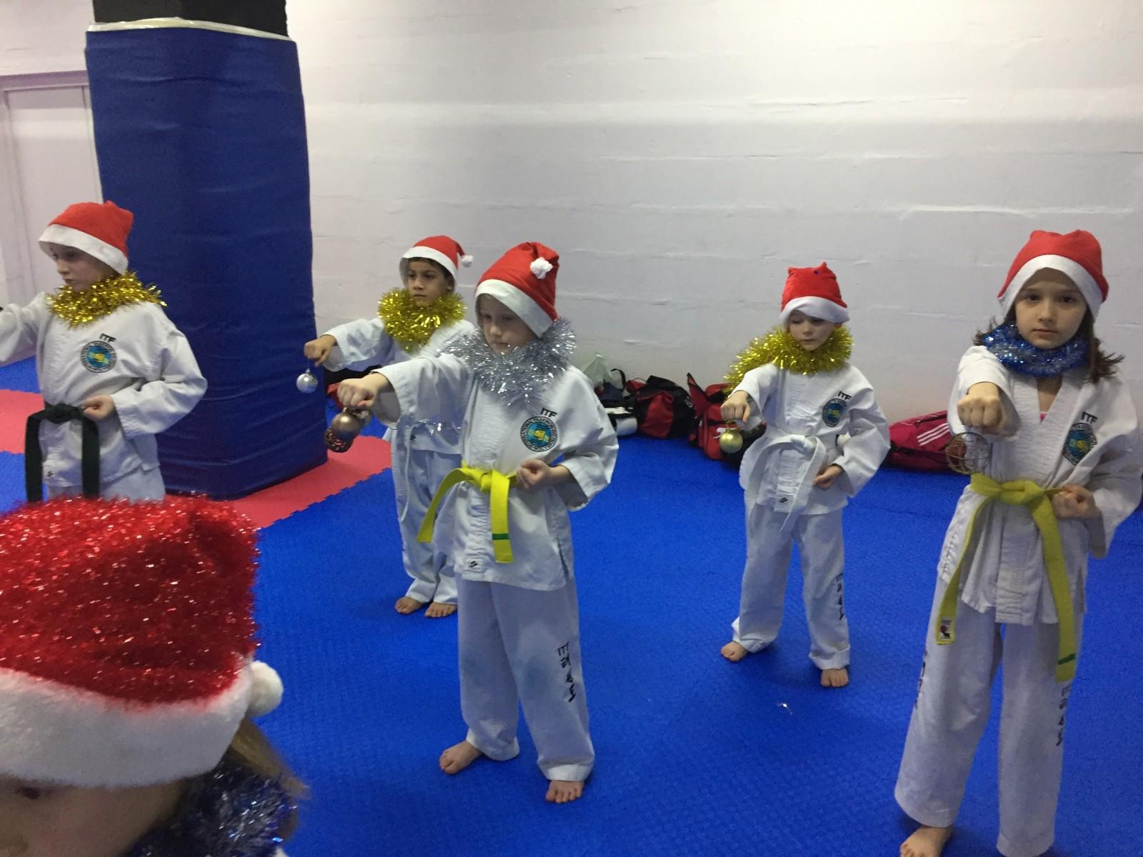Новогодняя тренировка теквандо